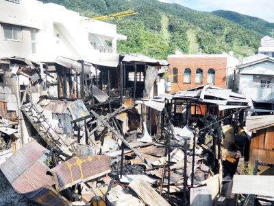 住宅密集地で火災
