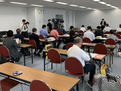 県知事選 立候補予定者に説明会