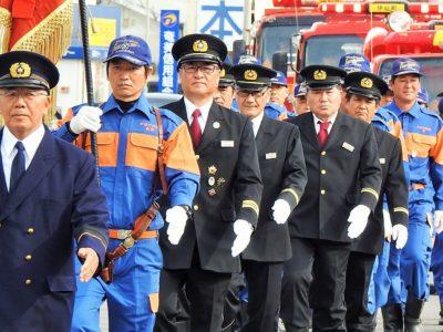 伊仙、天城両町で消防出初式