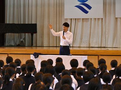 生徒と知事が座談会