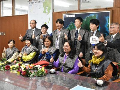 台湾のパラ卓球選手ら龍郷町訪問