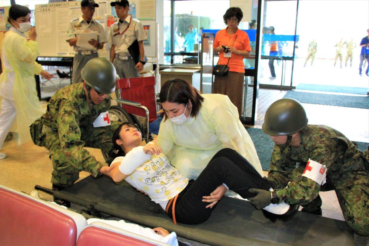 県立大島病院大規模災害訓練