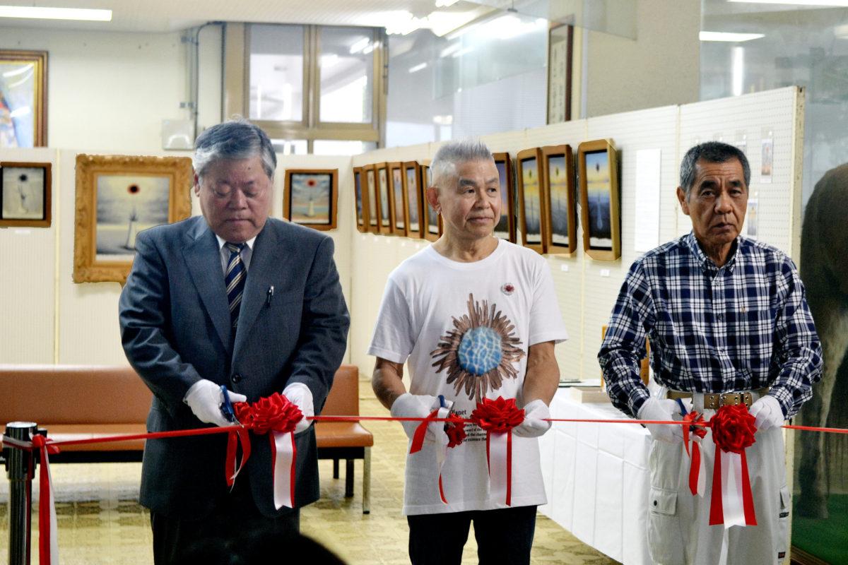 喜界町中央公民館 横山さんが個展