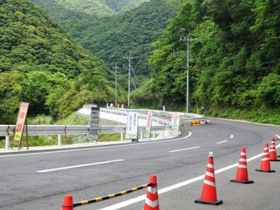 湯湾岳へ続く 県道村道、整備進む
