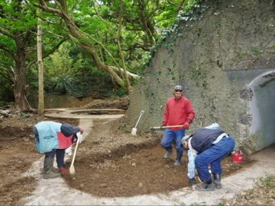 西古見砲台跡の発掘調査