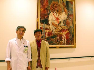九州がんセンターに絵画寄贈