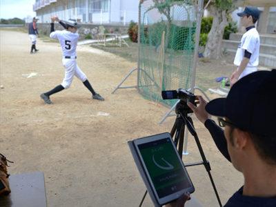 鹿屋体大野球部 知名中で野球教室