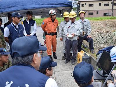 奄美市と大和村で防災点検
