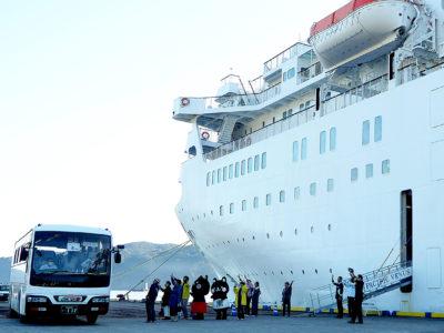 新型肺炎の影響か乗船客減