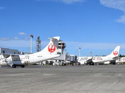 JAL特別塗装3機揃い踏み