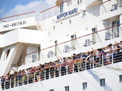修道高校(広島県)修学旅行で寄港