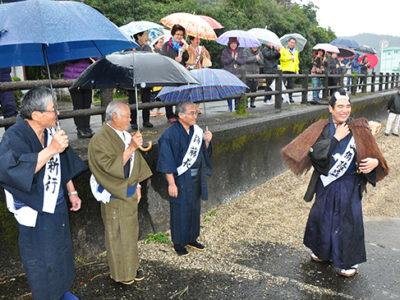 西郷上陸記念祭を初開催