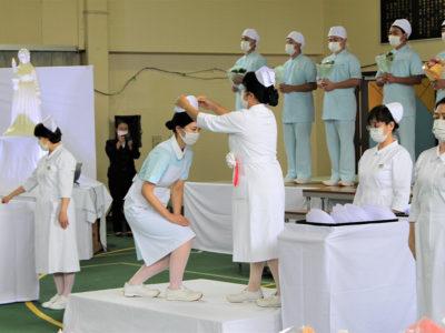 看護福祉専門学校「戴帽式」